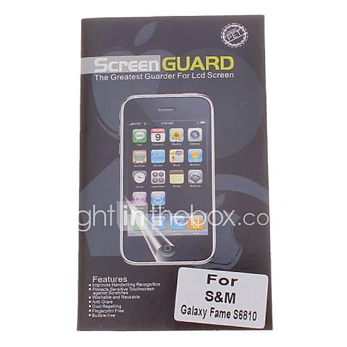 Professionnel Effacer anti-éblouissement Protecteur d'écran LCD pour Samsung Galaxy renommée S6810