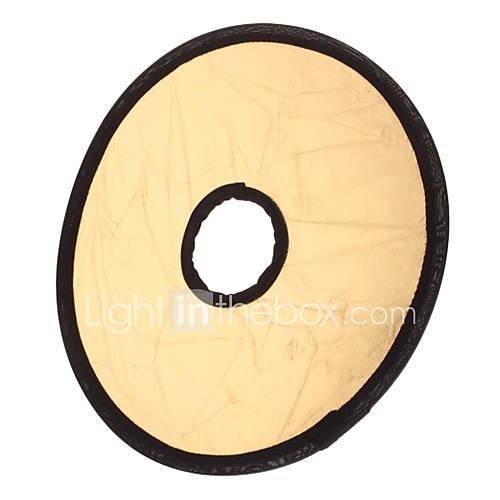 Faltbare Mittelständische Flash-Reflektor Board - Silber  Golden (30cm Durchmesser)