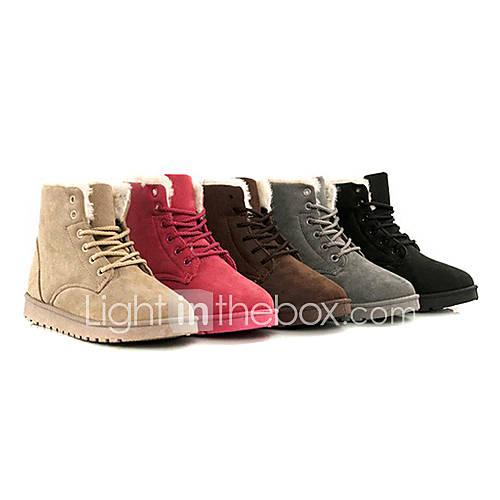 Frauen klassisch Lace-up Winter Ankle Boots