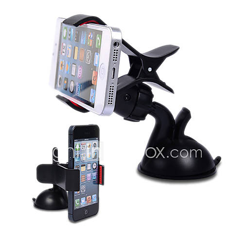 Premium 360 Degree Rotatable Universal Car Holder with Suction Cup for Mobile Phone