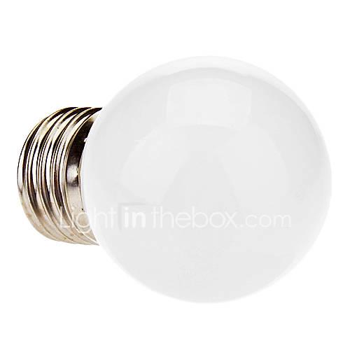 1W E26/E27 LED Globe Bulbs 12 SMD 3528 20-30 lm Cool White AC 220-240 V