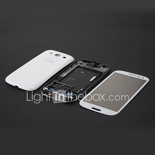 Weiß Original volle Gehäuse-Abdeckung Case  Outer Screen-Glas für Samsung Galaxy S3 i9300