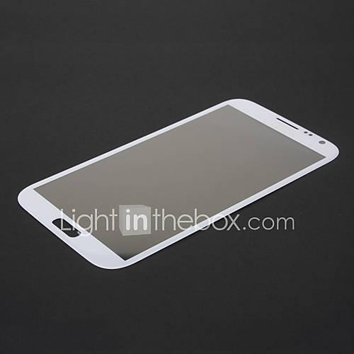 White Front Outer Glas-Linse Ersatz für Samsung Galaxy Note N7100 II