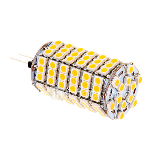 G4 7W 580lm 118x5050SMD 2500-3500K chaud Ampoule LED à lumière blanche de maïs (12V)