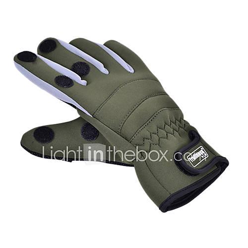 Neuer Typ Promend Wasserdicht Wearable Keep Warm Leinwand Fishing Glove