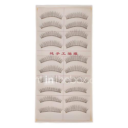 Hand-made Natural False Upper Eyelashes 217