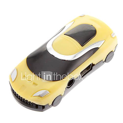 TF Auto geformte Reader MP3-Player Auto-Form-Gelb