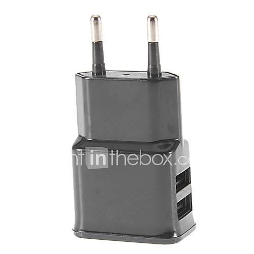 2 Dual USB Ports Ladegerät-Adapter EU Stecker für iPhone & Smartphone Samsung Geräte