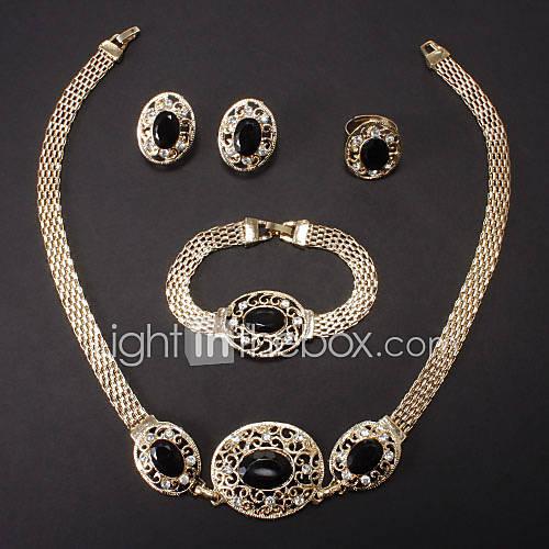 Women's Jewelry Set Fashion Bridal Wedding Party Special Occasion Anniversary Birthday Gift Rhinestone Imitation Diamond Alloy Rings
