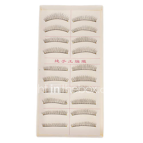 Hand-made Natural False Upper Eyelashes 216