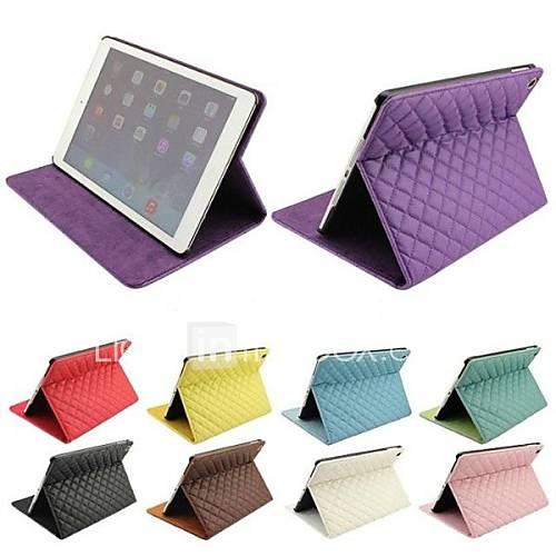 Grille Diamant style Full Body cas de stand en cuir pour iPad Air (couleurs assorties)