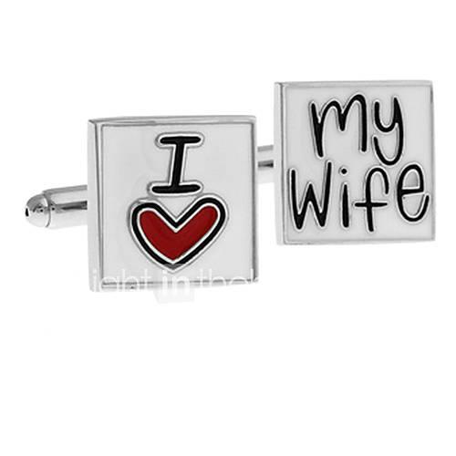 Männer ich liebe meine Frau Quadrat Manschettenknöpfe (2 Stück)