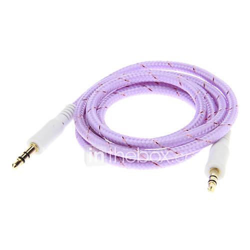 Weave Line-Audio-Jack-Verbindungskabel (1,0 m Lila)