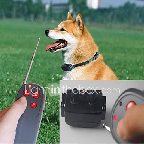 Dog Bark Collar Dog Training Collars Anti Bark Remote Control Electronic/Electric Shock/Vibration Solid Black Nylon