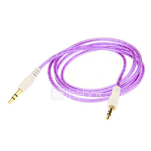 3,5 mm Audio Jack Bunte-Verbindungskabel (Lila 1,05 m)