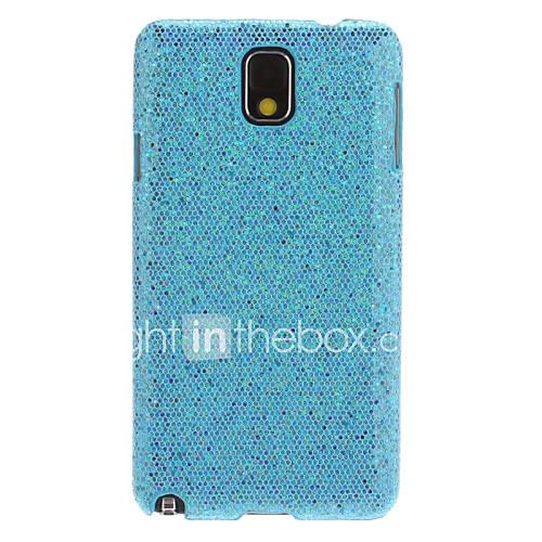 Schimmernde Gesicht Muster Kunststoff zurück Fall für Samsung Galaxy N9000 Hinweis3