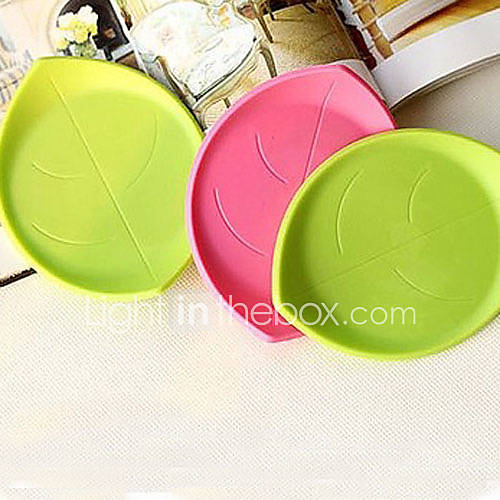 Creative Leaf Shaped Cup Mat(Random Color)