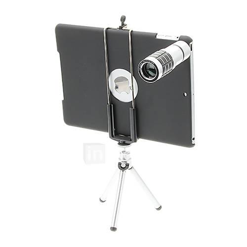 12X Tele Aluminium Handyobjektiv mit Stativ für iPad 5/Air