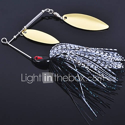 1 pcs Hard Bait Metal Bait Fishing Lures Hard Bait Metal Bait Black Green White Yellow Purple Assorted Colors Random Colors g/Ounce100 mm