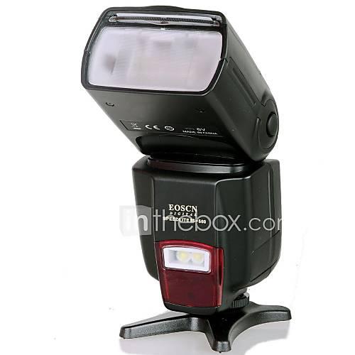 EOSCN ES-560 Universal-Blitzgerät mit Fill-Licht-Funktion für Canon, Nikon, Pentax, Olympus - Schwarz