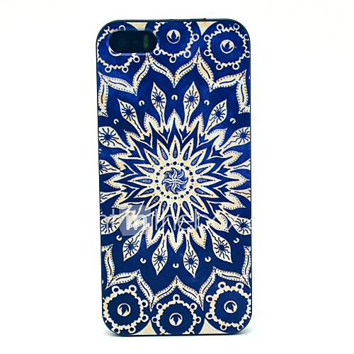 Blue Flower Pattern Hard Back Case for iPhone 5/5s/SE iPhone Cases