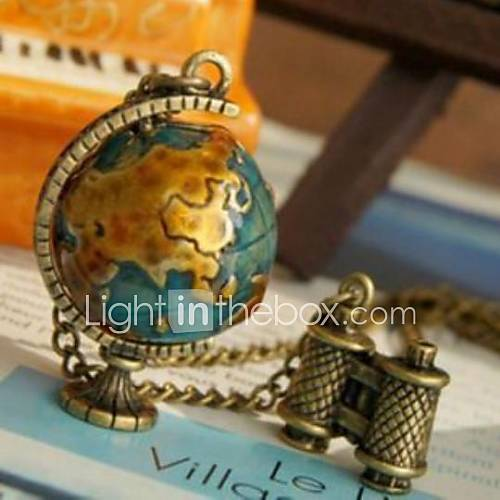 Collar colgante Telescopio Global Travel Globe Sweater Chain Descuento en Miniinthebox