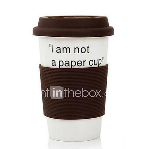 380 ML Ich bin nicht ein Papier Cup Keramik Eco Cup Becher-Kaffeetasse (Kaffee)