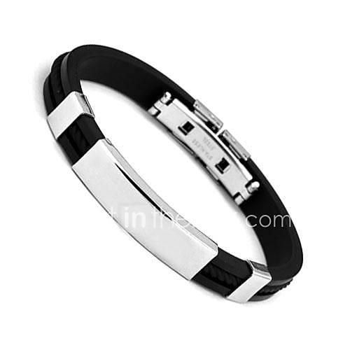 Bracelet Manchettes Bracelets Acier inoxydable Quotidien Décontracté Sports Regalos de Navidad Bijoux Cadeau Argent,1pc