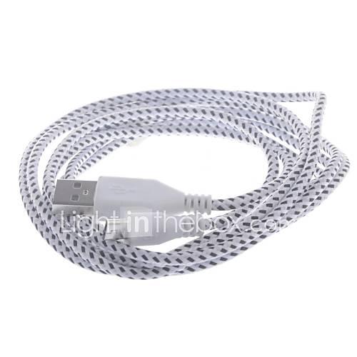 USB a Micro USB Data / Charging Tejido de malla de nylon Cable para Samsung / HTC / Nokia (200cm)