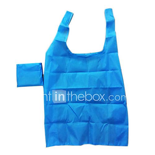 Umweltfreundliche Wasserdicht Solid Color Folding Einkaufstasche (zufällige Farbe)
