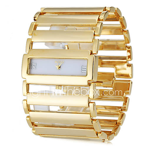 Women's Square Case Wide Steel Band Analog Quartz Bracelet Watch (Assorted Colors) Cool Watches Unique Watches