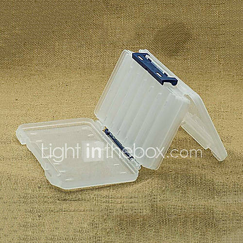 200  126  36MM Two Sides Weiß Transparent Fishing Tackle Box Box