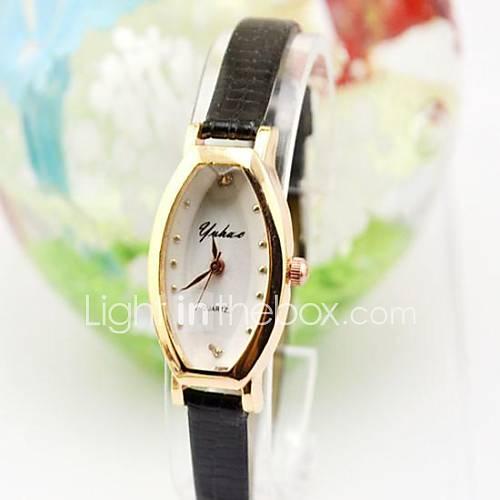 Damenuhr Kleine Dial Thin Strap Pocket Watch römischen Ziffern Damen Uhren verschiedene Farben