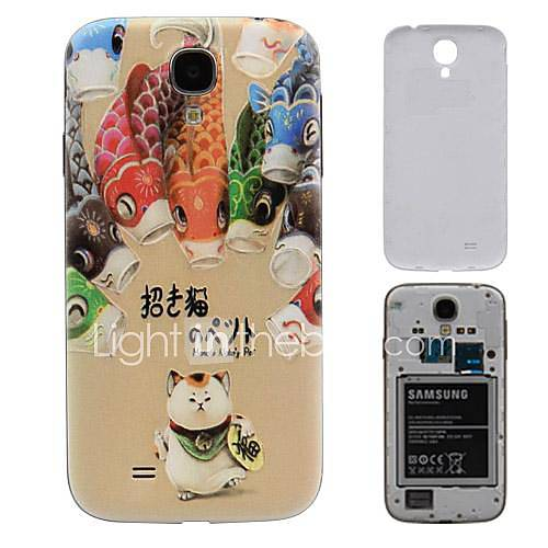 Lucky Cat PC-Fest Akku Rückseite Gehäuse für Samsung Galaxy i9500 S4