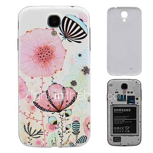 Batterflies Fliegen in den Blumen PC-Fest Akku Rückseite Gehäuse für Samsung Galaxy I9500 S4