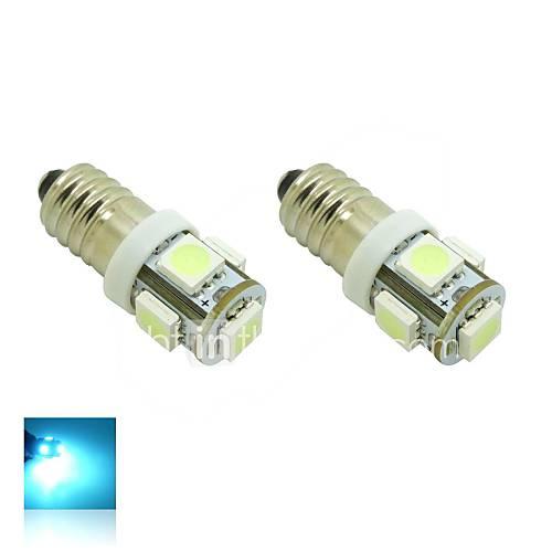 E10 1W 5X5050 SMD cristallo luci