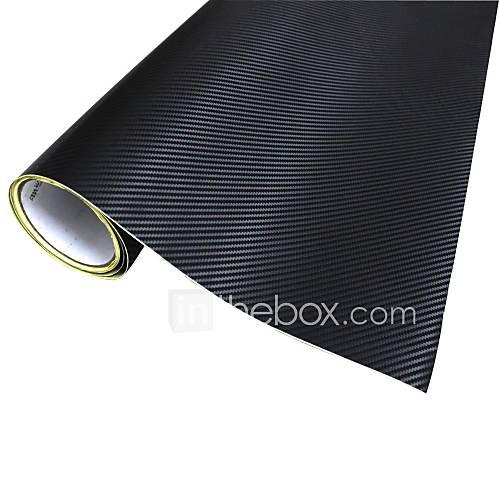 Merdia Decoration 3D PVC Carbon Fiber Film Wrap klistremerke for bil-svart (127 x 50cm)