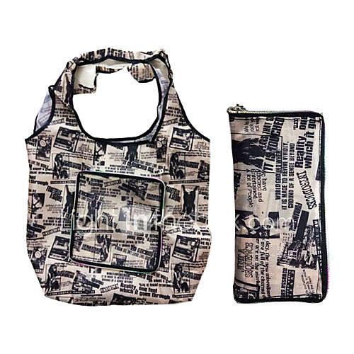 Umweltfreundliche Wasserdicht Retro-Muster-Einkaufstasche