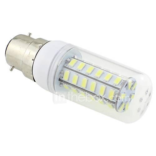 7W B22 LED Corn Lights T 48 SMD 5730 600 lm Cool White AC 220-240 V