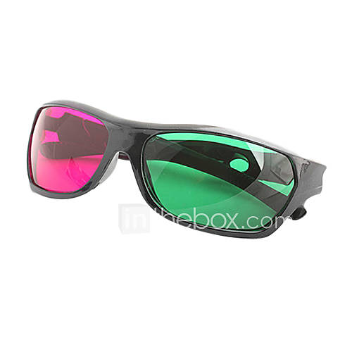 MK General High Definition Sports Green Red 3D Glasses for Computer and TV