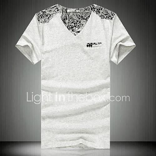 Ny sommer kortermet T-skjorte for menn