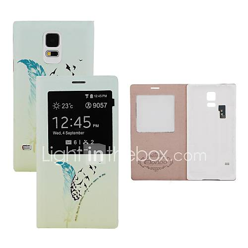 elonbo Feder Batterie Back Flip Cover Ganzkörper-Fall mit Auto-Sleep-Funktion für Samsung Galaxy i9600 s5