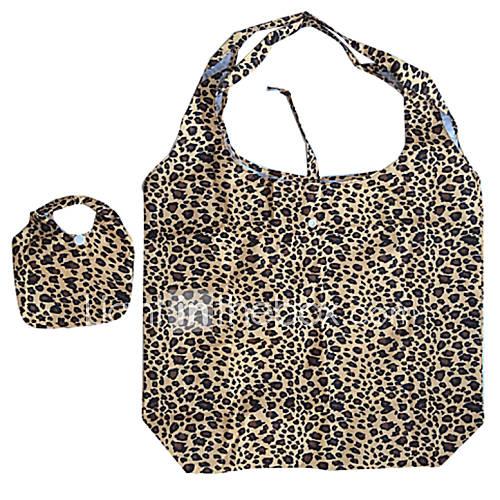 umweltfreundliche Leoparddruckmuster Falten Einkaufstasche