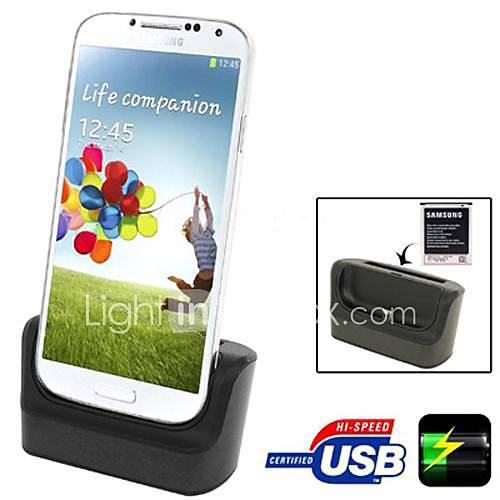 3 in 1 Daten-Sync-Ladegerät Desktop-Ladestation Micro-USB-Micro-USB-Kabel für Samsung Galaxy i9500 i9505 s4 siv