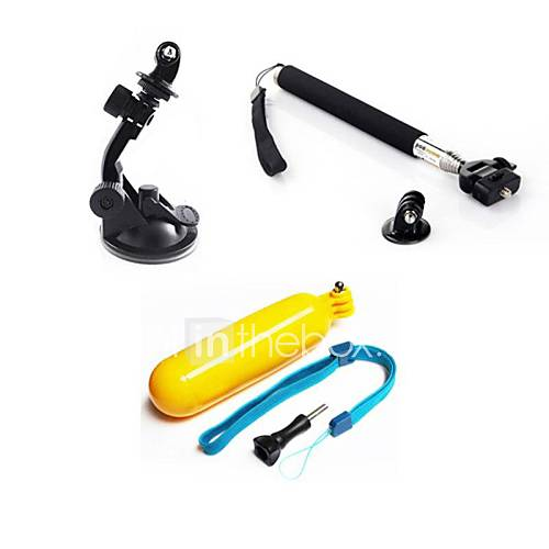 Telescopic Pole Monopod Tripod Floating Buoy Suction Cup ForGopro 5 Gopro 4 Silver Gopro 4 Gopro 4 Black Gopro 4 Session Gopro 3 Sports
