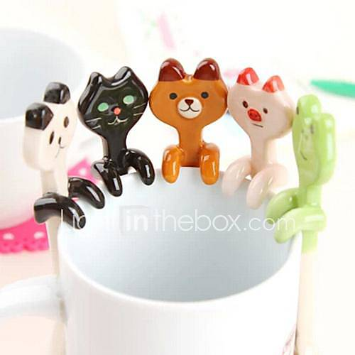 Cartoon Animal Ceramic Hanging Spoons(Assorted Color)