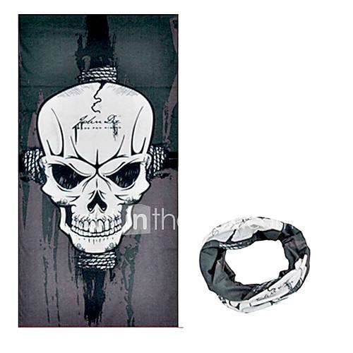 KORAMAN Summer Dark Skeleton Cycling Sun-Proof Magic Scarf Headband