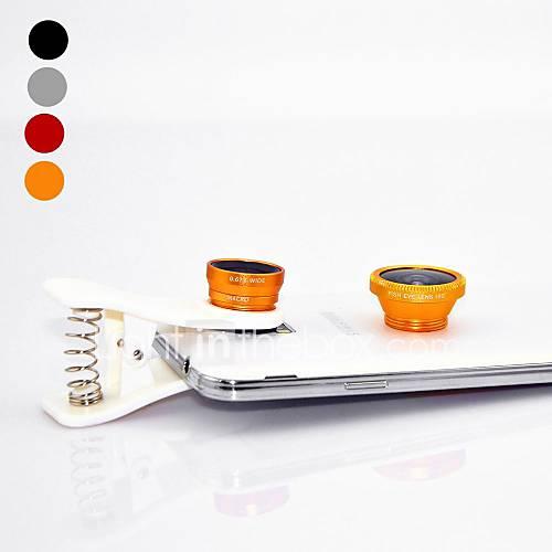 Universal Spring Clip Weitwinkel-Objektiv Makro-Objektiv und Fischaugen-Objektiv für Samsung-Handy und Tablet (verschiedene Farben)