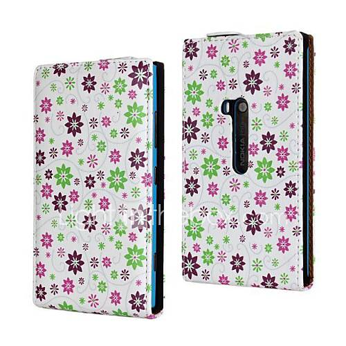 Vakker liten blomstermønster PU skinn Full Body Veske til Nokia Lumia 920/N920