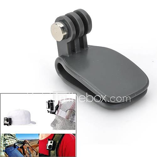 vina -Schnellwechselplatte Klemm flexible Halterung Rucksack Clip für GoPro Hero 3  / 3/2/1/sj4000 - schwarz